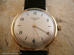 10K Gold Filled Longines with Rail Track Design, Automatic, 33.5mm