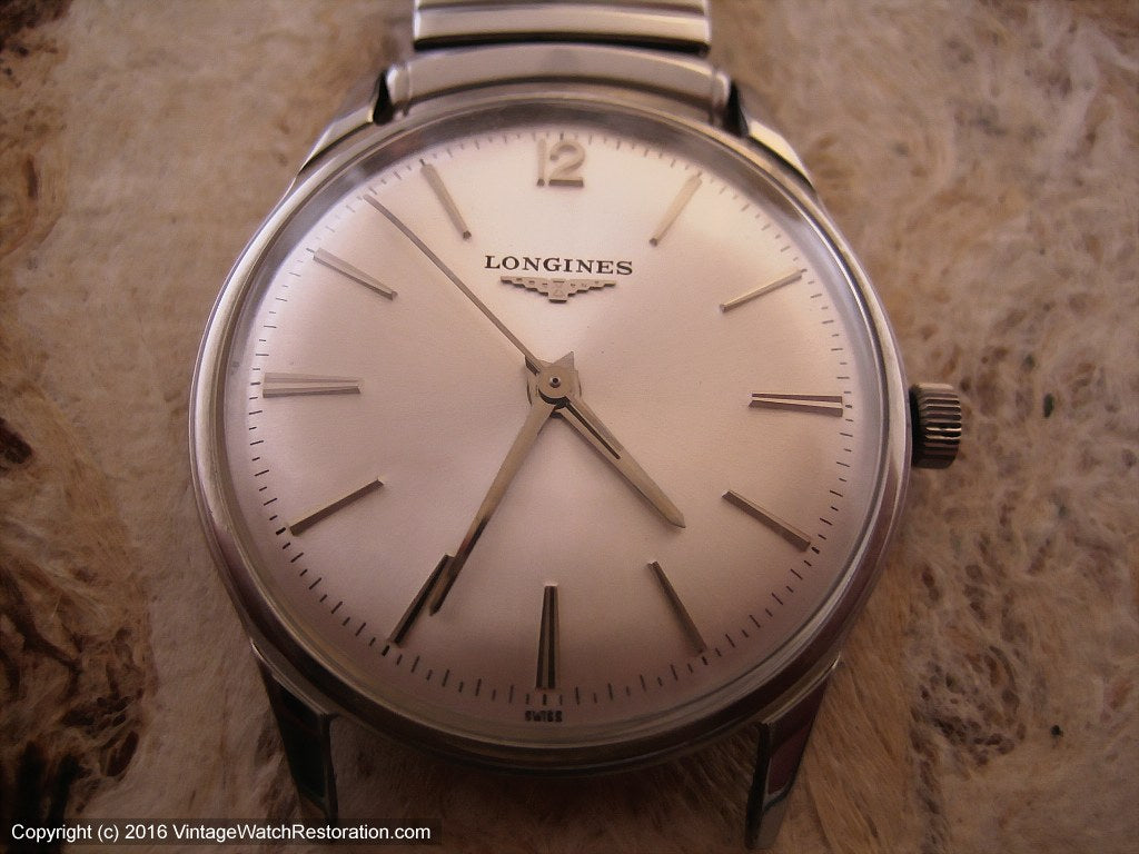 Pristine Longines Silver Dial Classic, Manual, 33mm