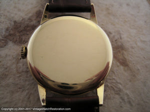 Original Two-Tone Longines 18K Gold Case, Manual, 34mm