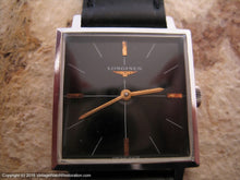 Load image into Gallery viewer, Longines Square Glossy Black Dial, Manual, 28.5x36mm