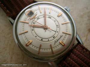 Rare Longines Date at 12 with Power Reserve Indicator, Automatic, Large 35.5mm