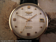 Load image into Gallery viewer, Longines Admiral 5-Star Linen Dial, Automatic, Large 35mm