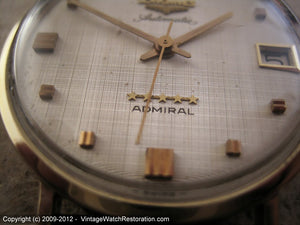Longines Admiral 5-Star Linen Dial, Automatic, Large 35mm