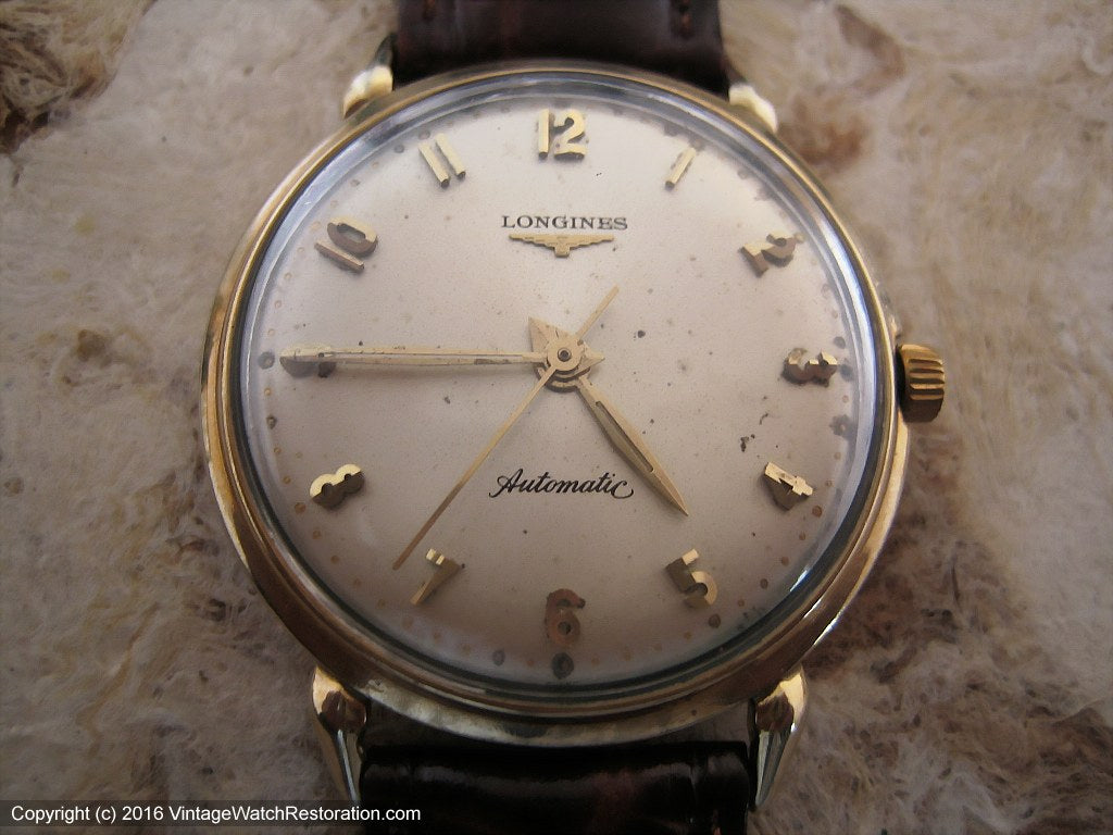 Longines Original Dial with Raised Faceted Numbers, Automatic, Large 35mm