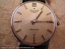 Load image into Gallery viewer, Longines Rare Type 'Flagship' with Date at Twelve, Automatic, Large 34mm