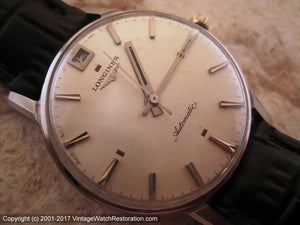 Longines Rare Type 'Flagship' with Date at Twelve, Automatic, Large 34mm