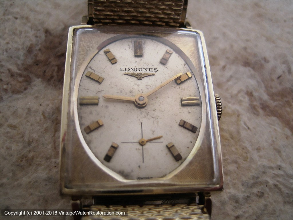 Longines Oval Dial in a Rectangular Case, Manual, 24x38mm