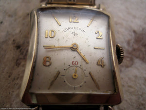 Lord Elgin in Beefy Flared Hourglass Case, Manual, 22.5x37mm