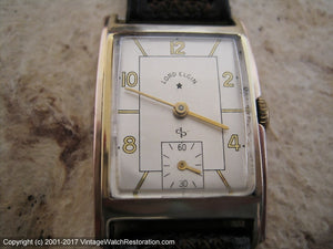 Lord Elgin Fantastic Two Tone Dial and Case in Original Lucid Presentation Case, Manual, 23x36.5mm