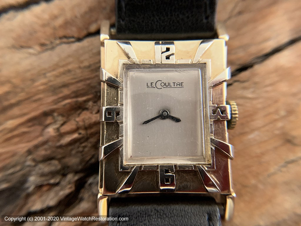 LeCoultre 14K Gold Art Deco Bezel Number, Manual, 24x36mm