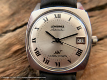 Load image into Gallery viewer, Longines Ultra-Chron Roman Numeral Dial with Date in Mint Square Tonneau Case, Automatic, 33.5x38mm