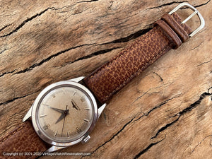 Longines Pefectly Aged Parchment Patina Dial, Manual, 33.5mm
