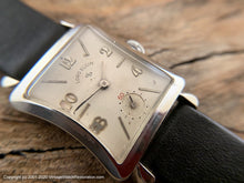 Load image into Gallery viewer, Lord Elgin Hourglass Case, Lightly Aged Dial, CAl 670 with 4 Adjustments, Manual, 25.5x37mm