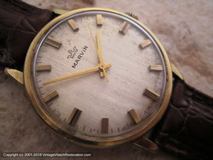 Marvin Original Silver Dial with Light Patina, Manual, 34mm