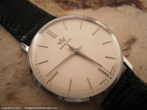 Classic Marvin NOS Pearl White Dial Gem, Manual, Very Large 35mm