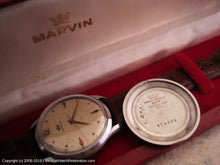 Load image into Gallery viewer, Marvin with Wonderful Speckled Dial and Original Red Presentation Box, Manual, V.Large 37mm