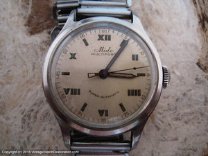 Mido Multifort Super-Automatic Roman Style Dial, Automatic, 33mm