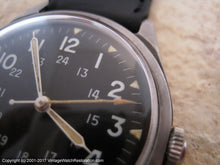 Load image into Gallery viewer, 1966 Benrus Military 24-Hour Black Dial DTU-2A/P MIL-W-3818B, Manual, 34x41