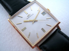 Load image into Gallery viewer, Large Movado 18K Square with Date, Automatic, 29.5x29.5mm