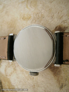 Early Movado Gem with Deco Stepped Lugs, Manual, 29mm