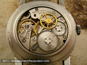 Complicated Calendar Movado with Original Dial, Manual, 32.5mm