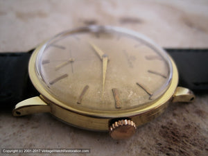Movado Classic with Original Golden Dial, Manual, Large 34mm