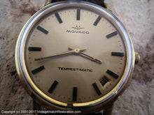 Load image into Gallery viewer, Movado Tempest-Matic Sub Sea with Date, Automatic, Large 36mm