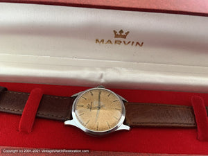 Marvin Golden Amber Patina with Original Box, Manual, Large 35mm