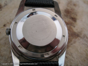 NOS Nivada Grenchen (Croton) 'Antarctic' with Snow Drift Dial, Automatic, Large 35mm