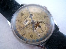 Load image into Gallery viewer, Rare Omega 'Cosmic' Triple Calendar Moonphase, Manual, 35mm