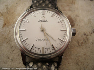 White/Silver Omega Seamaster, Automatic, Large 35mm