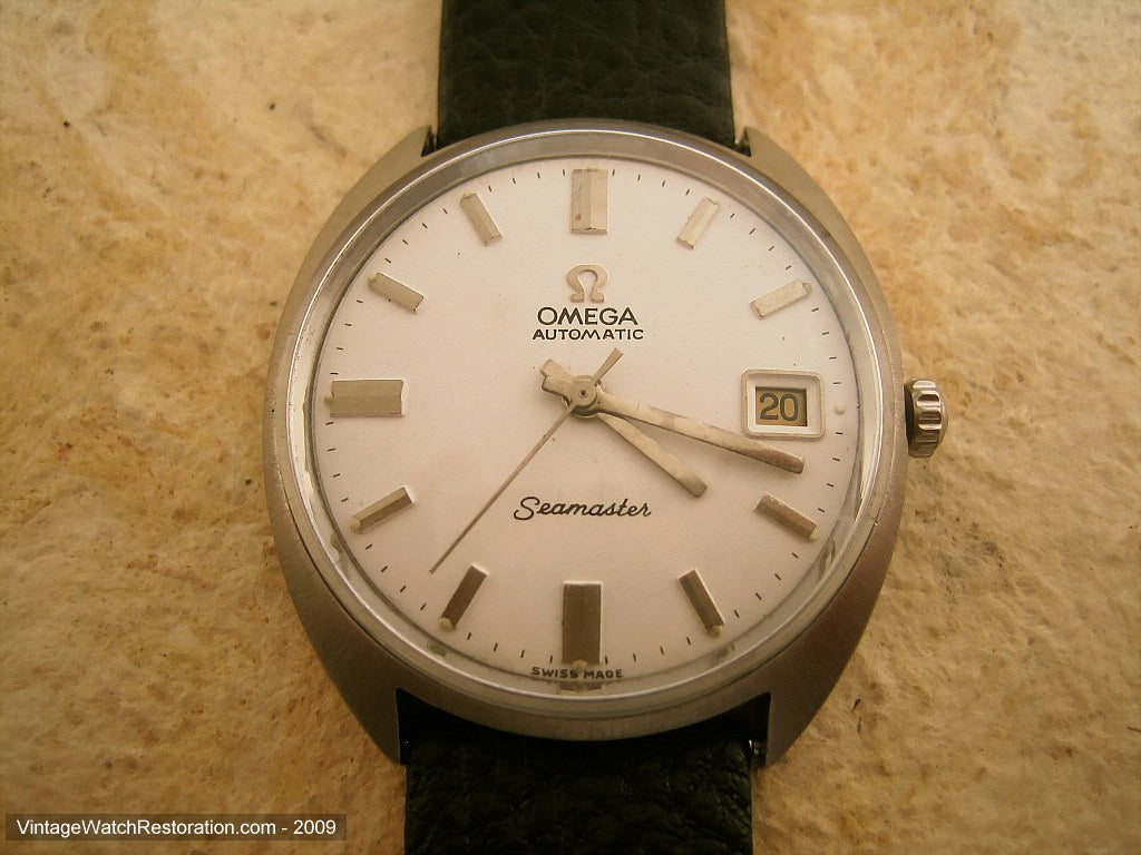 Omega Seamaster in an Integrated Tonneau-Style Case with Date, Automatic, Large 35mm
