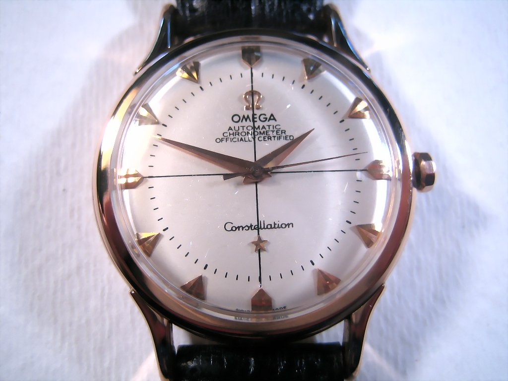 Omega 18k Rose Gold Constellation, Automatic, Large 35.5mm