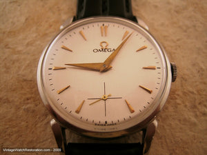 Classic Silver Dial Cal 265 Omega , Manual, Large 35mm