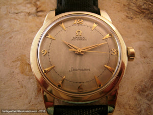 Stunning Omega Seamaster with Parchment Aged Dial, Automatic, Large 35mm