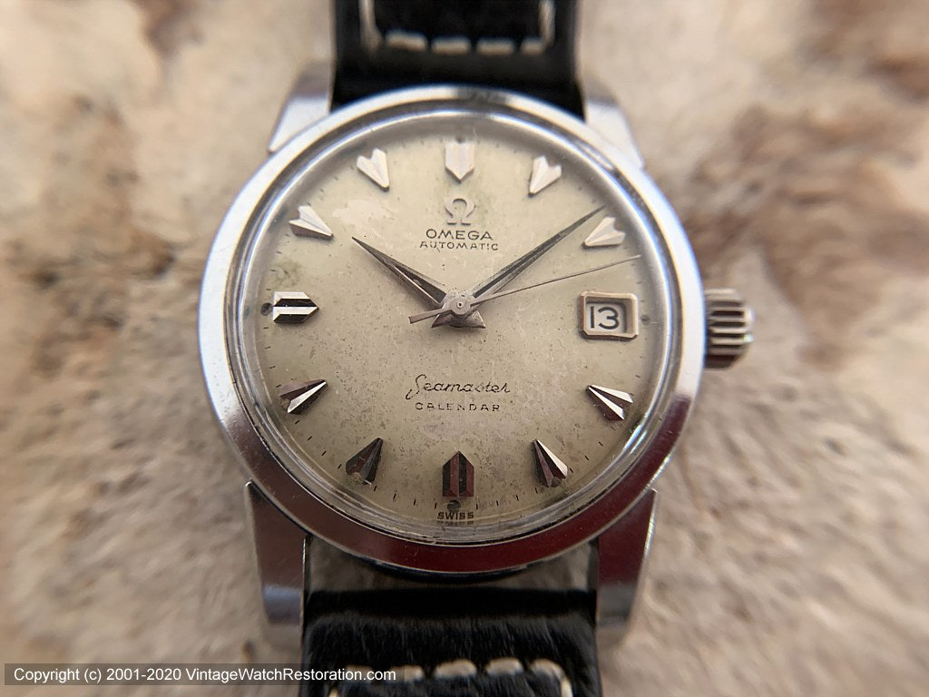 Early and Original Omega Seamaster 'Calendar', Automatic, Large 34.5mm