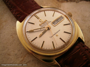 Omega Chronometer Constellation Tonneau Day/Date, Automatic, Large 35mm