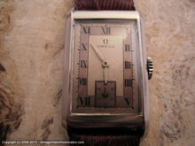 Load image into Gallery viewer, Omega Rare Rectangular Case Cal 17.8 with Two-Tone Roman Dial, Manual, 20x36mm