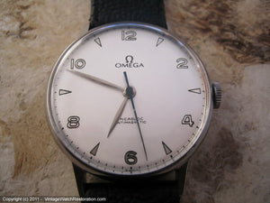 Large Elegant WWII Era Omega 30T2SC, Manual, Very Large 35mm