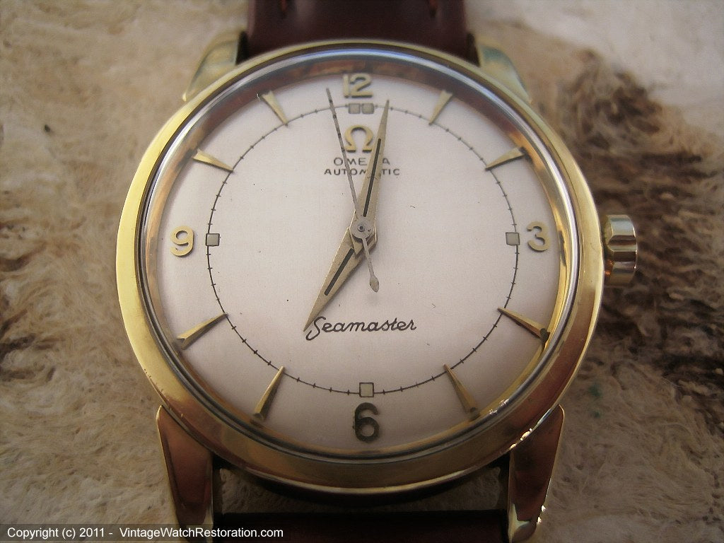 Early Omega Cal 500 Seamaster with Silver Dial , Automatic, Large 34.5mm
