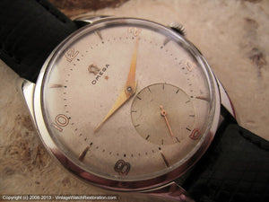 Huge Omega Red Star 20T2 with Original WWII Era Dial, Manual, Huge 38.5mm