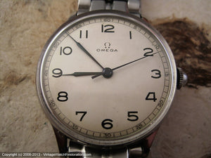 Fabulous Early WWII Big Bold Classic Omega Rare Model Cal 30SCT2, Manual, Very Large 35mm