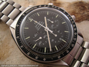 Minty Omega Speedmaster 'Moon Watch' with Black Dial, Manual, Huge 42mm