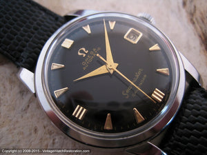 Early Omega Seamaster Black Dial with Date, Automatic, 34mm