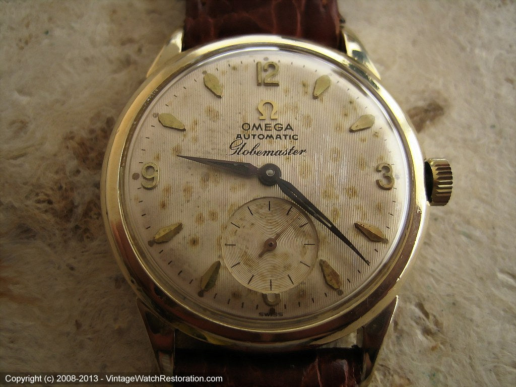 Omega Globemaster (Pre-Constellation) with Warm Dial Patina, Automatic, Large 34mm