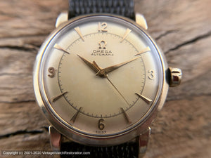 Omega Golden Two-Tone Dial Bumper Cal 351, Automatic, 33.5mm