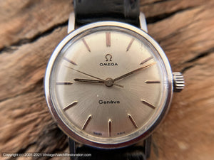 Omega Geneve Silver Dial Classic Mid-Sixties Classic, Manual, 35.5mm