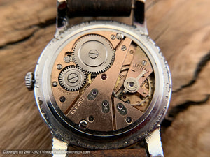Omikron 21 Rubis Brown Textured Dial, Wehrmachtswerk 1130 Movement, Manual, 38mm