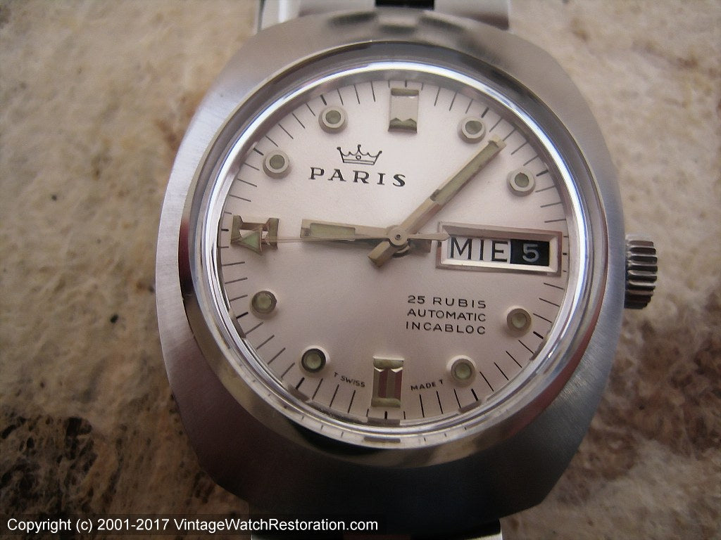 Paris 25 Rubis Day-Date NOS, Automatic, Large 36x43mm