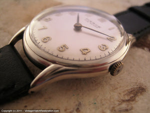 Pierce Silver Dial with Gold Numbers, Manual, Very Large 36mm